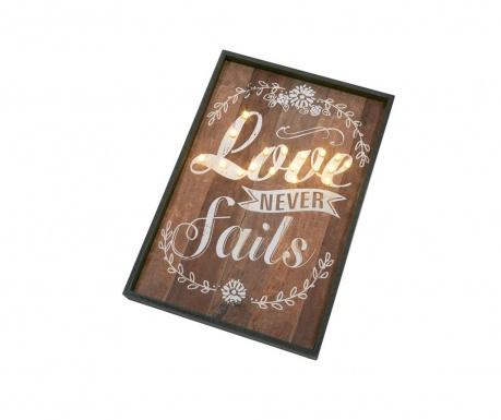 Nástěnná světelná dekorace Love Never Fails