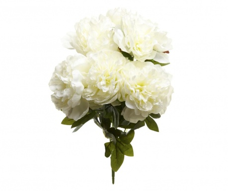 Artificial flower Poeny White