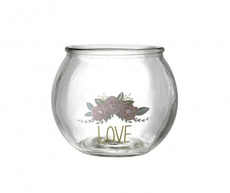 Podstavec na sviečku Love & Roses