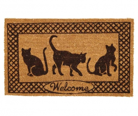 Covoras de intrare Welcome Cats 45x75 cm