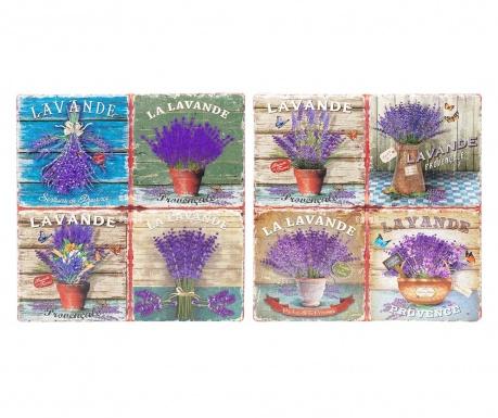 Set of 2 placemats Lavender Bouquets 20x20 cm