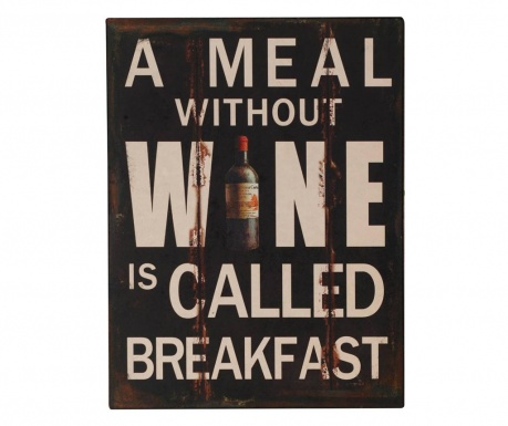 Wall decoration Wine for Breakfast
