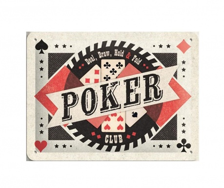 Wall decoration Poker Club