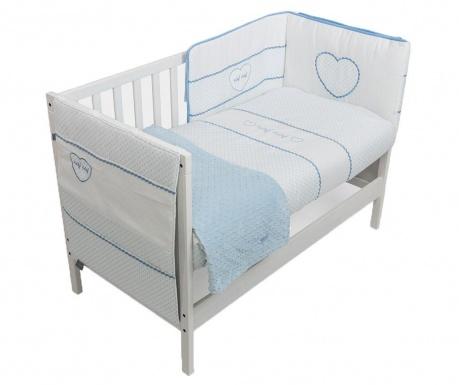Set krevetić i dodaci Heart Blue