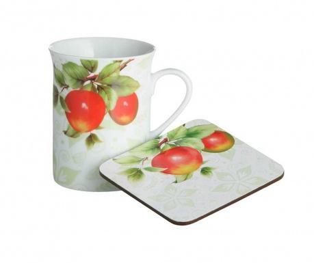 Zestaw kubek i podstawka pod szklankę Orchard Fruit 255 ml