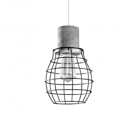 Závesná lampa Valerio Black Grey