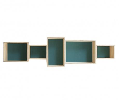 Element s policama Sandra Turquoise