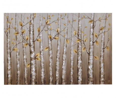 Slika Golden Leaves 100x150 cm