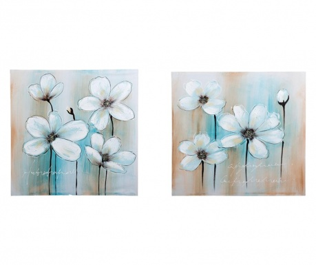 Set 2 slike Blue Background 80x80 cm