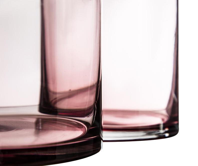 Váza Clear Pink Rosa