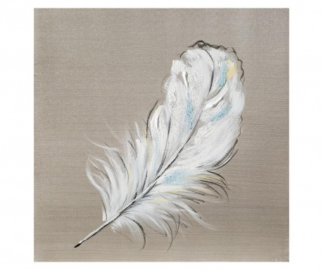Tablou White Feather 30x30 cm