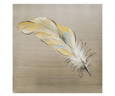 Yellow Feather Festmény 30x30 cm