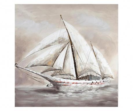 Tablou Boat 80x80 cm
