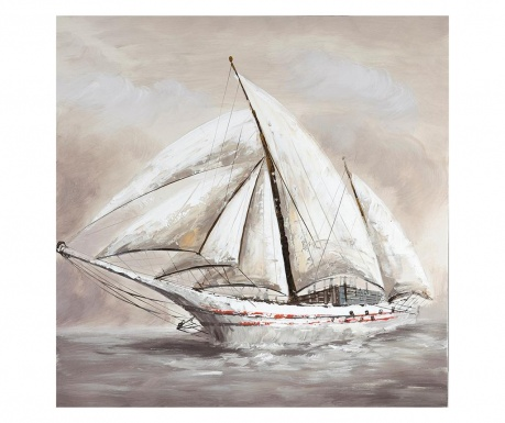 Boat Festmény 80x80 cm