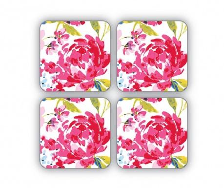 Set 4 coastere Floral Romance