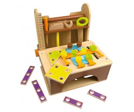 Banc de lucru de jucarie 34 piese Tools