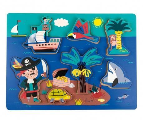 Joc tip puzzle 7 piese Pirates