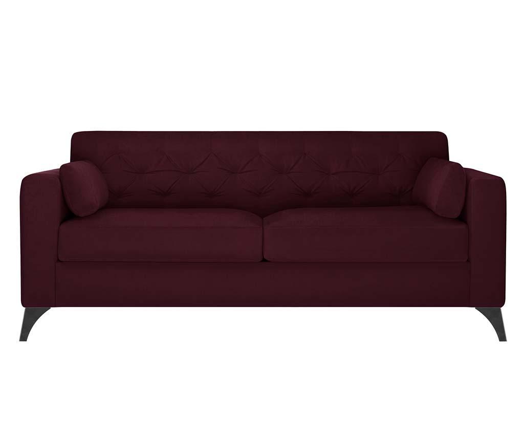 Canapea 3 locuri Vanity Crimson - Guy Laroche Home, Rosu imagine 2021