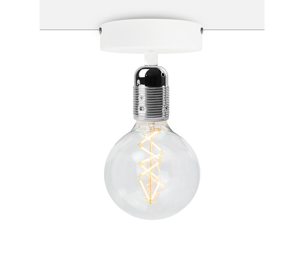 Plafoniera Uno Basic Nickel White - Bulb Attack, Gri & Argintiu