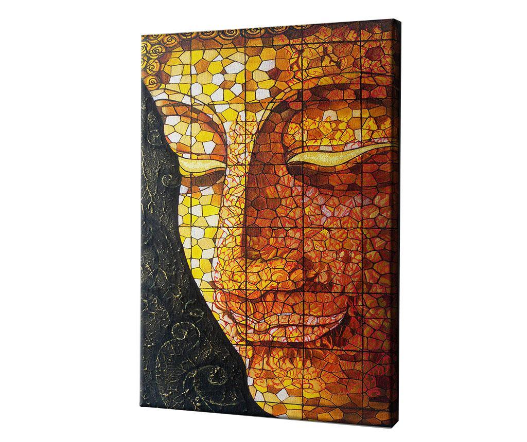 Tablou My Buddha No.3 by Praphavit Premtha 60x90 cm - CASBERG, Galben & Auriu