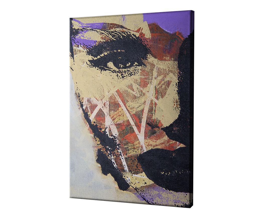 Tablou Abstract Woman Portrait 60x90 cm - CASBERG, Multicolor