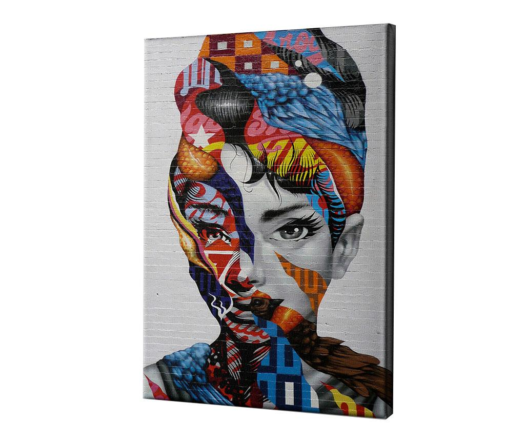 Tablou Audrey of Mulberry by Tristan Eaton 60x90 cm - CASBERG, Multicolor