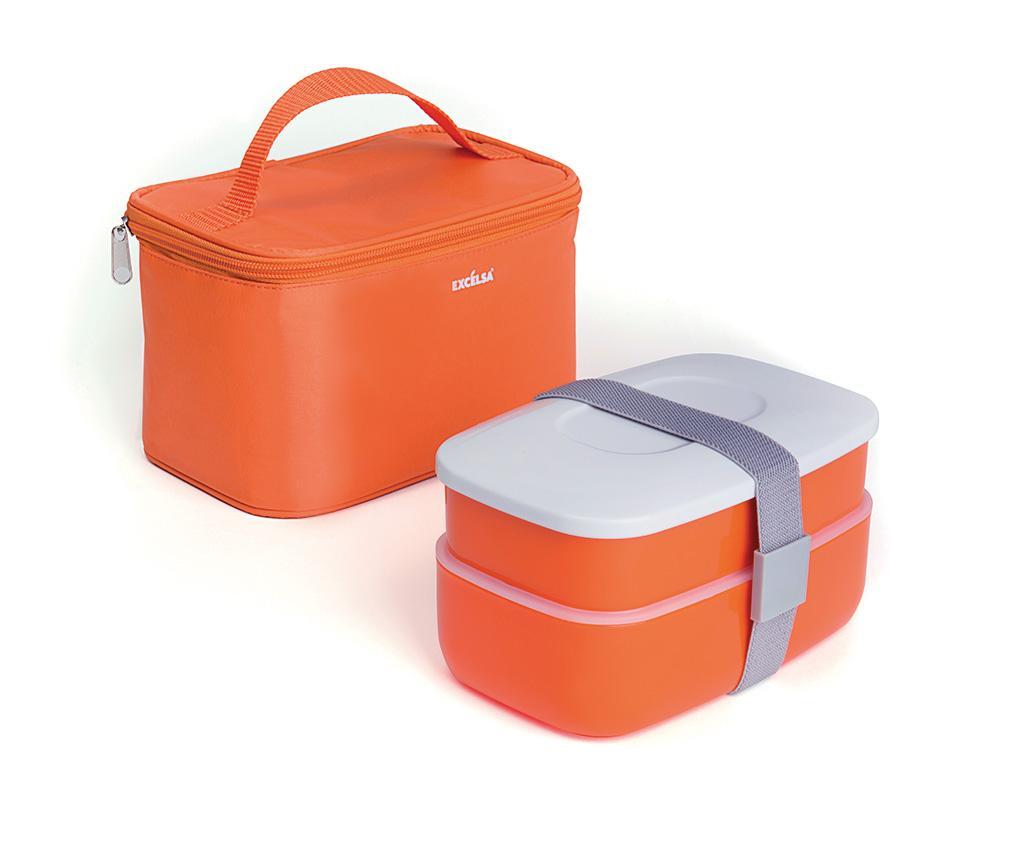 Cutie pentru pranz cu 3 tacamuri si geanta Ronda - Excelsa, Rosu