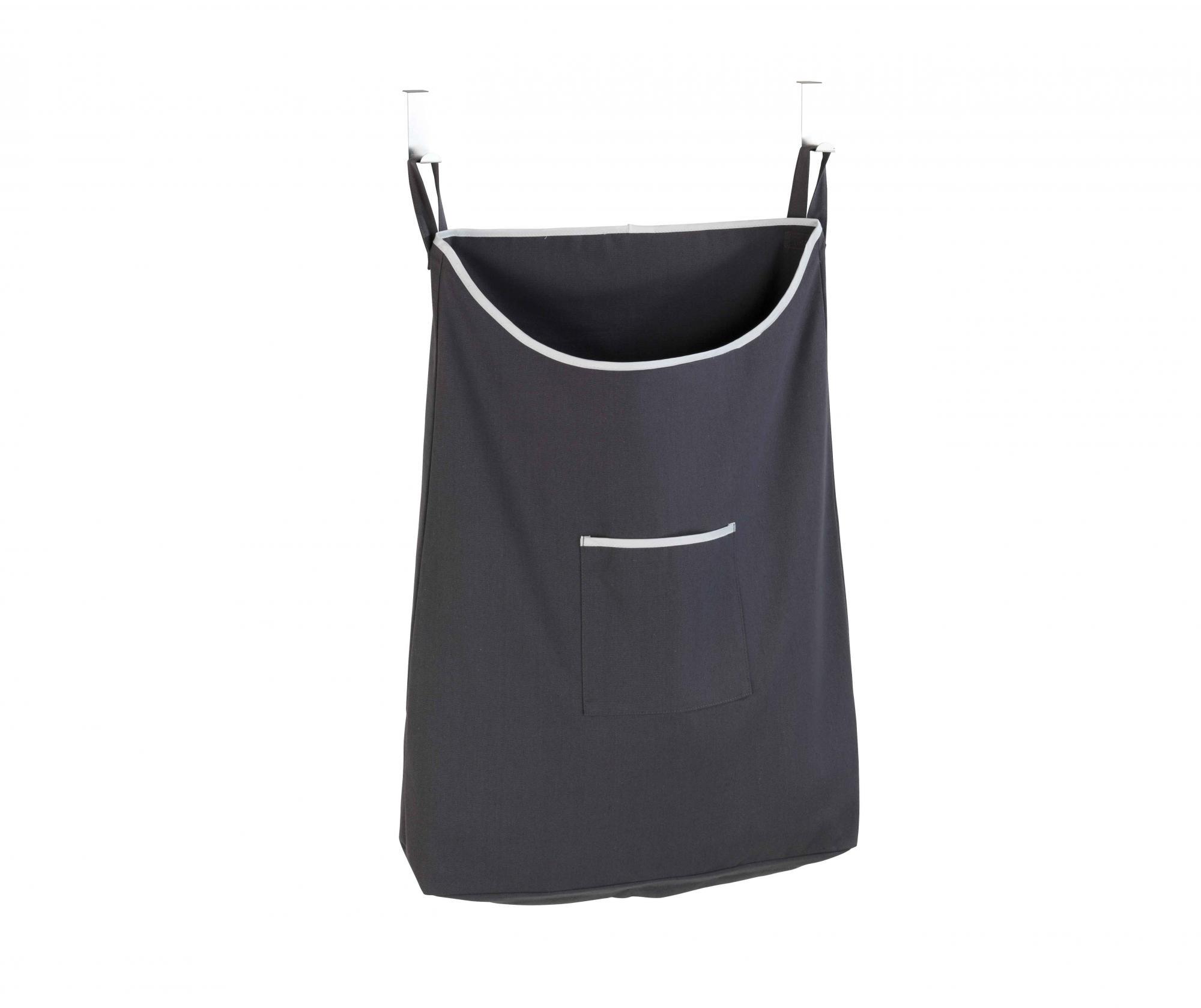 Set 2 cuiere si geanta pentru rufe Canguro Grey 65 L - Wenko, Gri & Argintiu