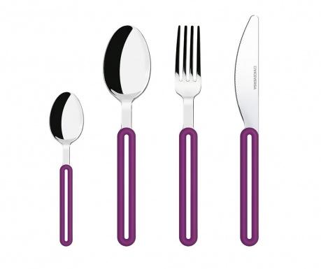 Dwudziestoczteroczęściowy zestaw sztućców Offset Purple