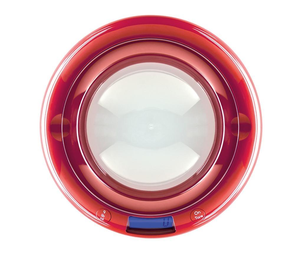Cantar digital de bucatarie Bubble Red