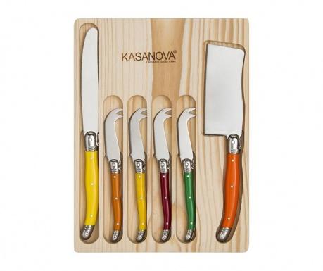 Colors 6 db Sajtvágó kés és tartó
