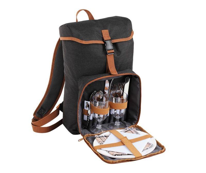 Rucsac echipat pentru picnic 2 persoane Front