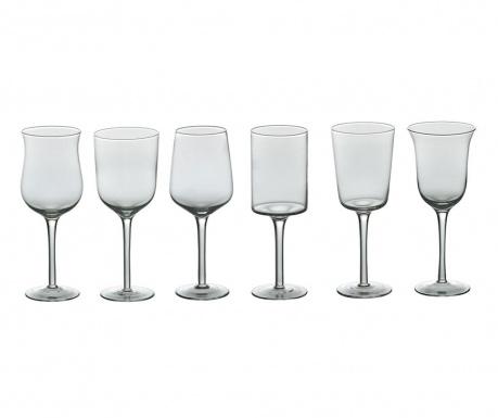 Set 6 čaša  s nogom Clear 250 ml