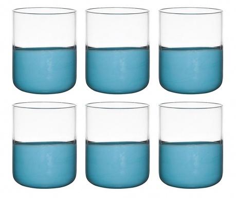 Сервиз 6 чаши Duo Blue 300 мл