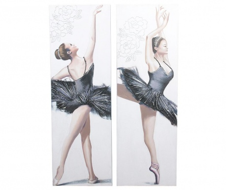 Set 2 tablouri Ballerina Dance 50x150 cm
