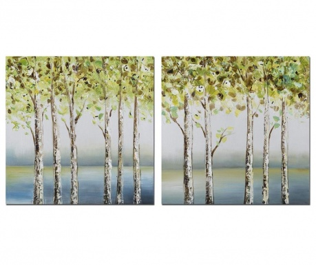 Set 2 tablouri Forest 60x60 cm