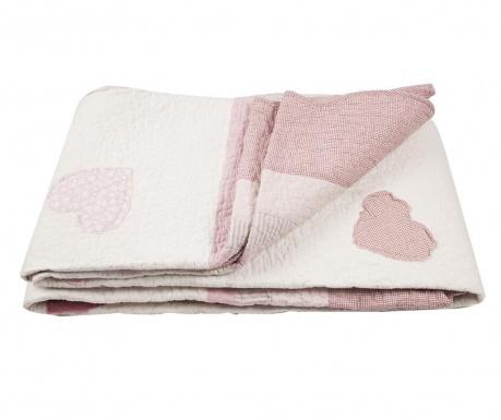 Ватирана кувертюра Hearts Patch Old Pink