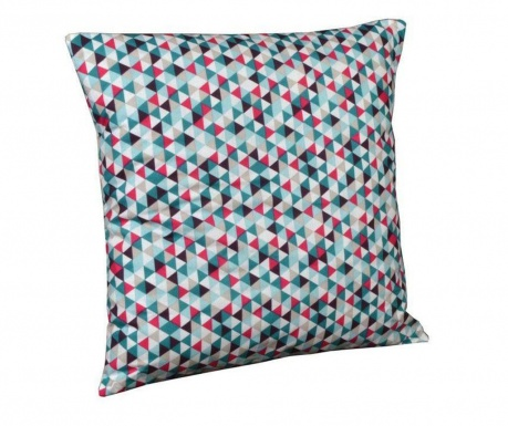 Perna decorativa Geometric Chic Pink and Blue 40x40 cm