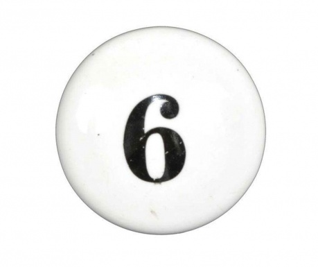 Number Six Fiókgomb