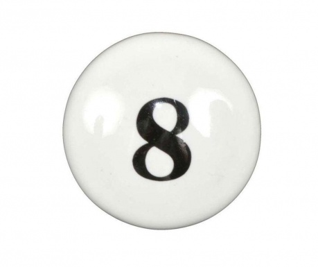 Number Eight Fiókgomb