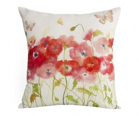 Fata de perna Watercolor Poppies 45x45 cm
