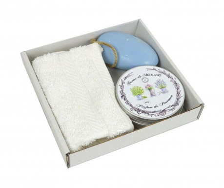 Parfum de Provence Fürdőszobai törölköző és 2 db szappan