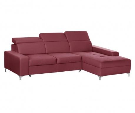 Разтегателен десен ъглов диван Cardigan Red