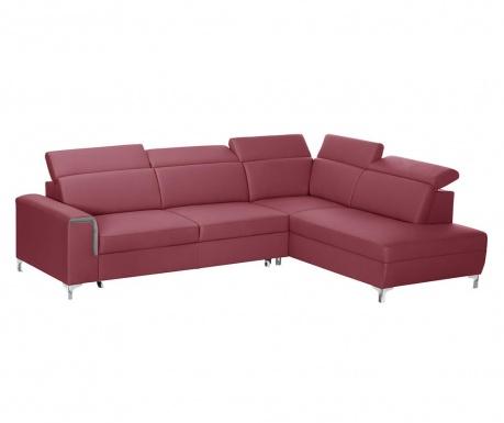 Разтегателен десен ъглов диван Serafino Red