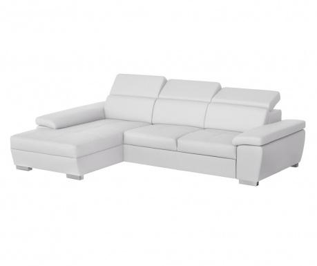 Разтегателен ляв ъглов диван Twinset White