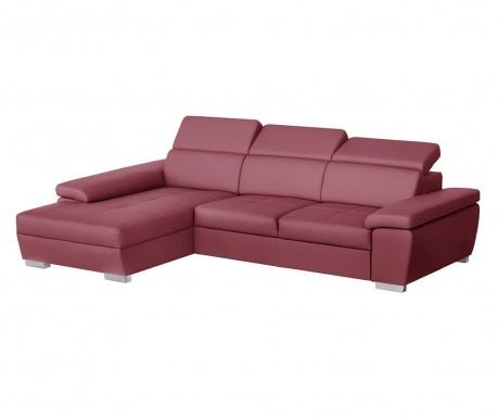 Разтегателен ляв ъглов диван Twinset Red