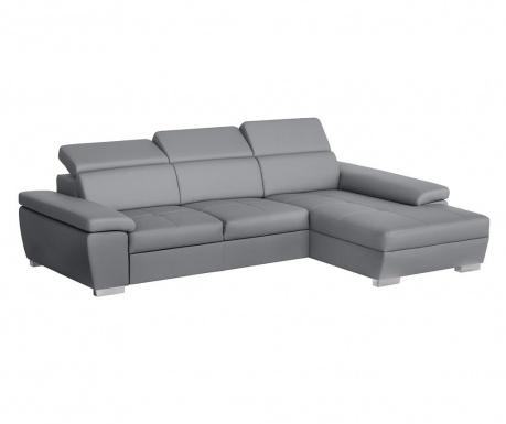 Разтегателен десен ъглов диван Twinset Grey