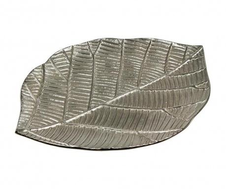 Decoratiune Leaf Sheet Silver