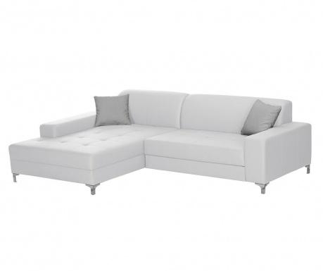Разтегателен ляв ъглов диван Symbole White