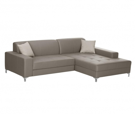 Разтегателен десен ъглов диван Symbole Grey Brown